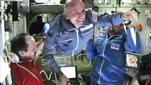Space Tourist Dennis Tito on the International Space Station -- harbinger of things to come?
