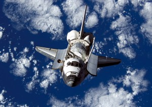 Discovery in orbit