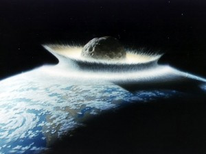 "Asteroid impacts the Earth, a ""planet killer.""  Think you're going to move this puppy with solar electric power?"
