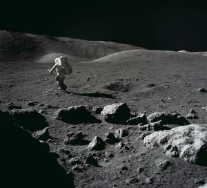 A mountain man on the Moon.  Could settlers follow?
