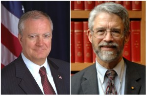 Two Presidential Science Advisors: John H. Marburger (2001-2009) and John P. Holdren (2009-present).