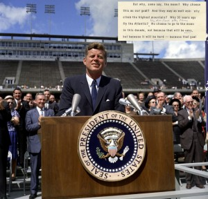 JFK at Rice University, September 1962.  A different America.