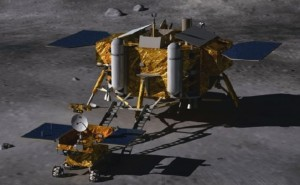 The Chang'E 3 lunar lander is almost half as big as the Apollo LM.  A precursor to a human spacecraft?