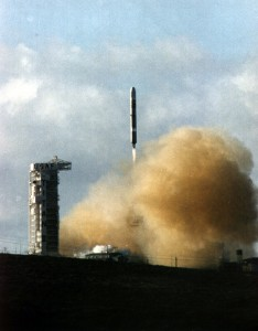 Clementine lifts off SLC-4W at Vandenberg AFB, January 25, 1994.