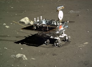 The Yutu rover on the Moon -- dirty job?