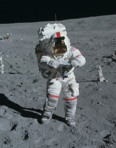 Astronaut John Young on the Moon in 1972.