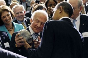 """""""So, this is a model of our future asteroid destination?""""  """"No, Mr. President -- this IS our destination!"""""""