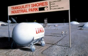 A future industrial operation on the Moon.  Possible or not? (Artwork by Pat Rawlings)