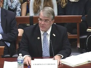 Congressman John Culberson (R-TX) testifies on his proposed bill to reorganize NASA.